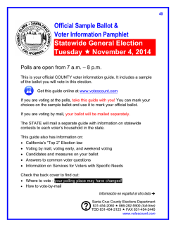 Sample Ballot - Santa Cruz County Election Department
