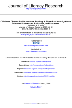 Childrens Choices for Recreational Reading