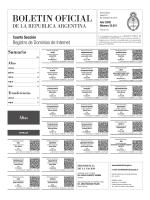 Sumario - Boletín Oficial de la República Argentina