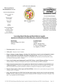 10-11-14 WSNC Board Mtg Retreat Agenda - The City of Los Angeles