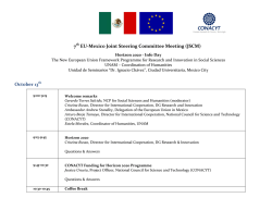 7 EU-Mexico Joint Steering Committee Meeting (JSCM - Conacyt