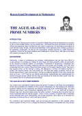THE AGUILAR-ACHA PRIME NUMBERS