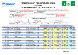 Clasificación General Absoluta - Conchip