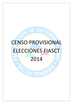 Censo Provisional FIASCT