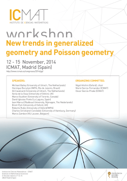 New trends in generalized geometry and Poisson geometry - ICMAT