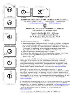 HARBOR GATEWAY NORTH NEIGHBORHOOD COUNCIL Tuesday