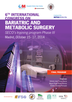 bariatric and metabolic surgery - BARIATRICS 2014 - Home