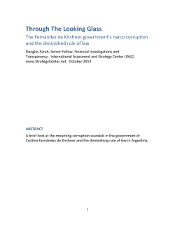 Through The Looking Glass - International Assessment and Strategy