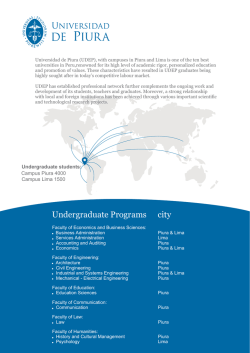 UDEP FACT SHEET 2014 - Universidad de Piura
