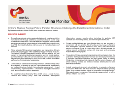 Chinas Shadow Foreign Policy - Mercator Institute for China Studies