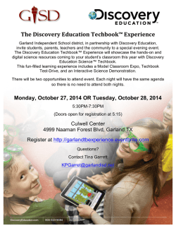 ! The!Discovery!Education!Techbook™!Experience! - Garland
