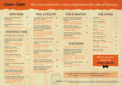 The most authentic Cuban experience this side of - Casa Cuba