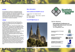 Call for Abstracts International Conference on Sustainable - rilem