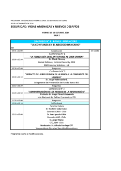 Programa Congreso SICUR 2014 por Simposio_Oct01