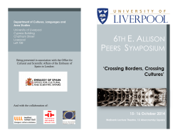 6TH E. ALLISON PEERS SYMPOSIUM - University of Liverpool