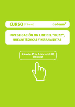 "INVESTIGACIÓN ON LINE DEL ""BUZZ"", - Aedemo"