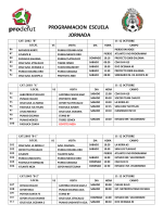 PROGRAMACION ESCUELA JORNADA - Prodefut Soccer