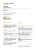 ANATOMÍA CLÍNICA - Facultad de Medicina - Universidad