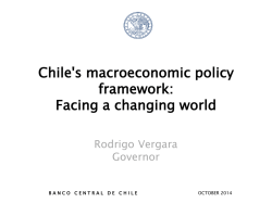 Chiles macroeconomic policy framework: Facing a changing world
