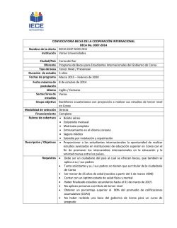 Becas KGSP-NIIED 2015
