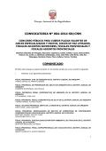 CONVOCATORIA Nº 004-2014-SN/CNM COMUNICADO