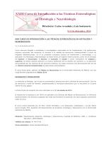 XIV Curso de Introducción a las Técnicas Estereológicas en