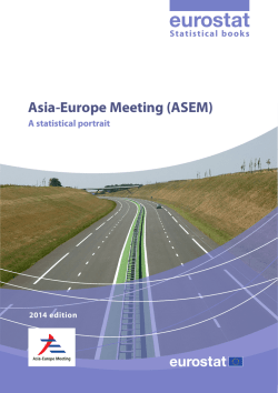 Asia-Europe Meeting (ASEM) - Eurostat - Europa