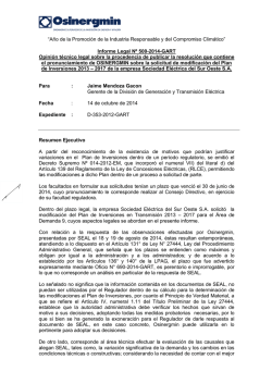 Informe Legal N° 500-2014-GART - osinergmin