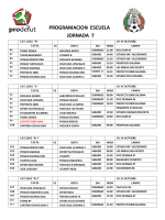 PROGRAMACION ESCUELA JORNADA 7 - Prodefut Soccer