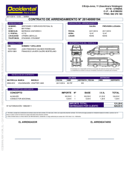 contrato de arrendamiento nº 20140000187 - Occidental Rent a Car