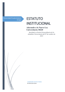 Estatuto UPAO (VER en PDF) - Universidad Privada Antenor Orrego