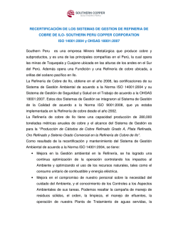 southern peru copper corporation refinería ilo