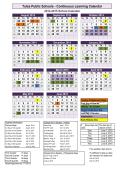 School Calendar Template - Tulsa Public Schools