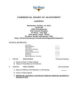 Board of Adjustment Commercial Hearing - City of Fort Worth
