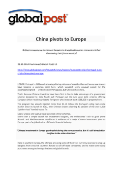 China pivots to Europe - Fride