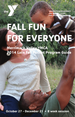 to download our Late Fall Program Guide for the - Methuen YMCA