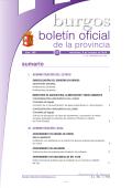 Sumario - Boletín Oficial de la Provincia de Burgos - Diputación de