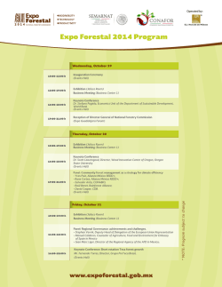 Expo Forestal 2014 Program