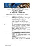 LISTA DE PROYECTOS DE LEY H.D. ADOLFO T. VALDERRAMA R