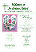 MASS SCHEDULE - St. Colette Church