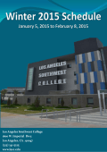 View the Winter Schedule - Los Angeles Southwest College
