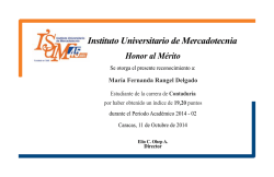 Instituto Universitario de Mercadotecnia Honor al Mérito - ISUM