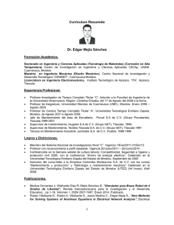 Curriculum Edgar Mejia - Universidad Veracruzana