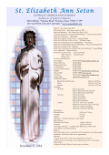 St. Elizabeth Ann Seton - E-churchbulletins.com
