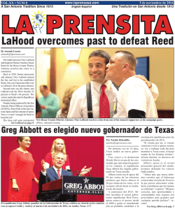 LaHood overcomes past to defeat Reed - La Prensa De San Antonio