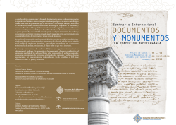 DOCUMENTOS Y MONUMENTOS - IAPH. Instituto Andaluz del
