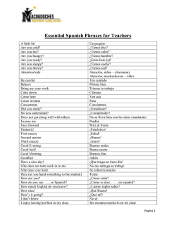 Essential Spanish Phrases for Teachers