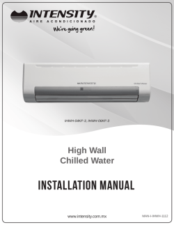 INSTALLATION MANUAL - Climayoreo