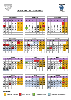 CALENDARIO ESCOLAR 2014-15 - Colegio San Vicente de Paul