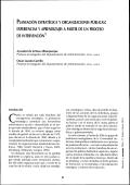 PLANEACIÓN ESTRATÉGICA Y ORGANIZACIONES PÚBLICAS